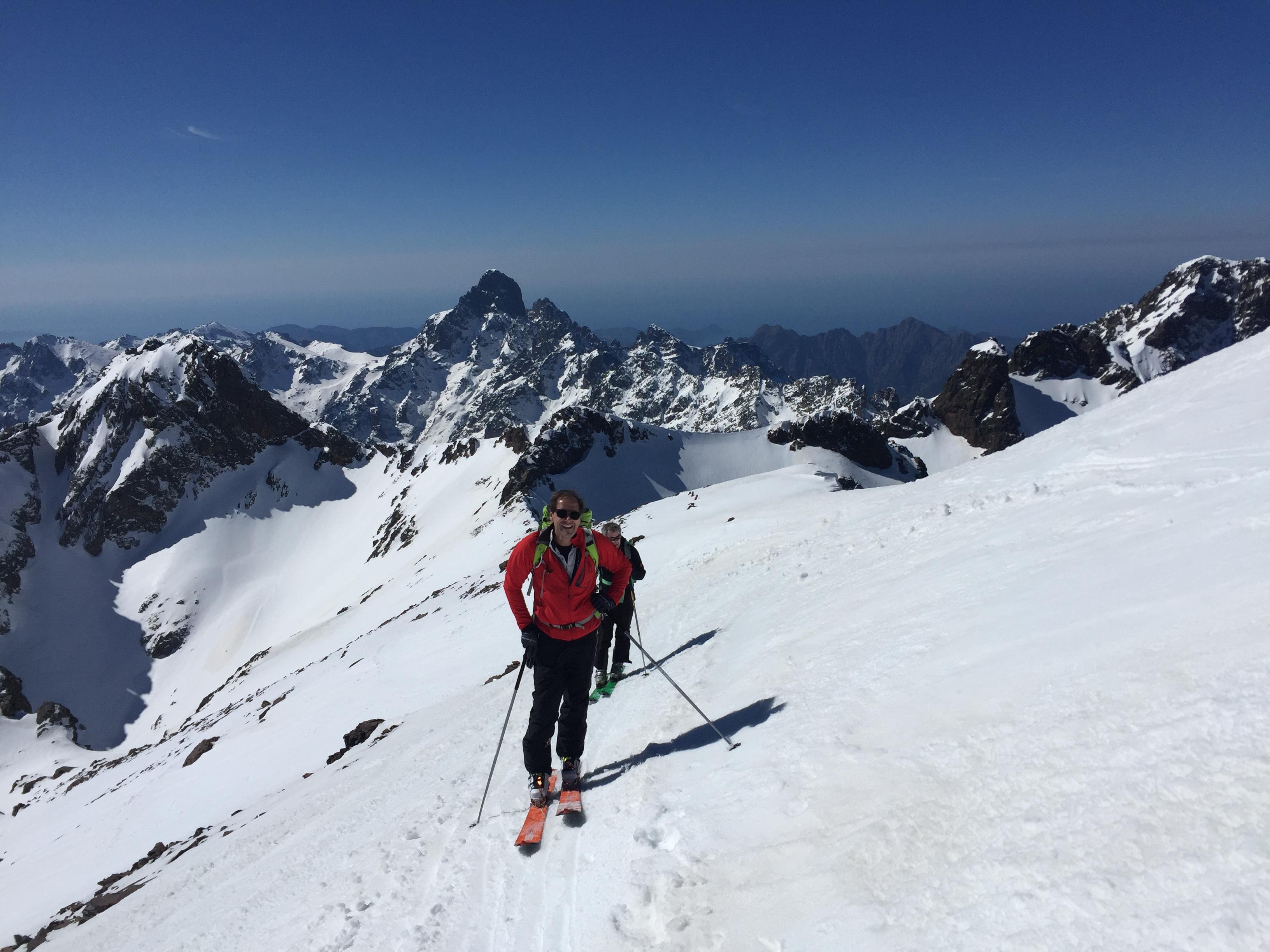 Pointe des Éboulis en ski