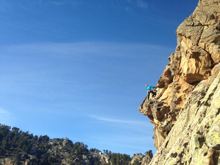 Nouvelle voie d'escalade dans la Restonica