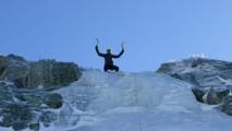 Cascade de glace en Corse