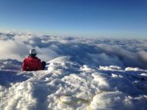 Sommet du Cayambe et sa mer de nuages