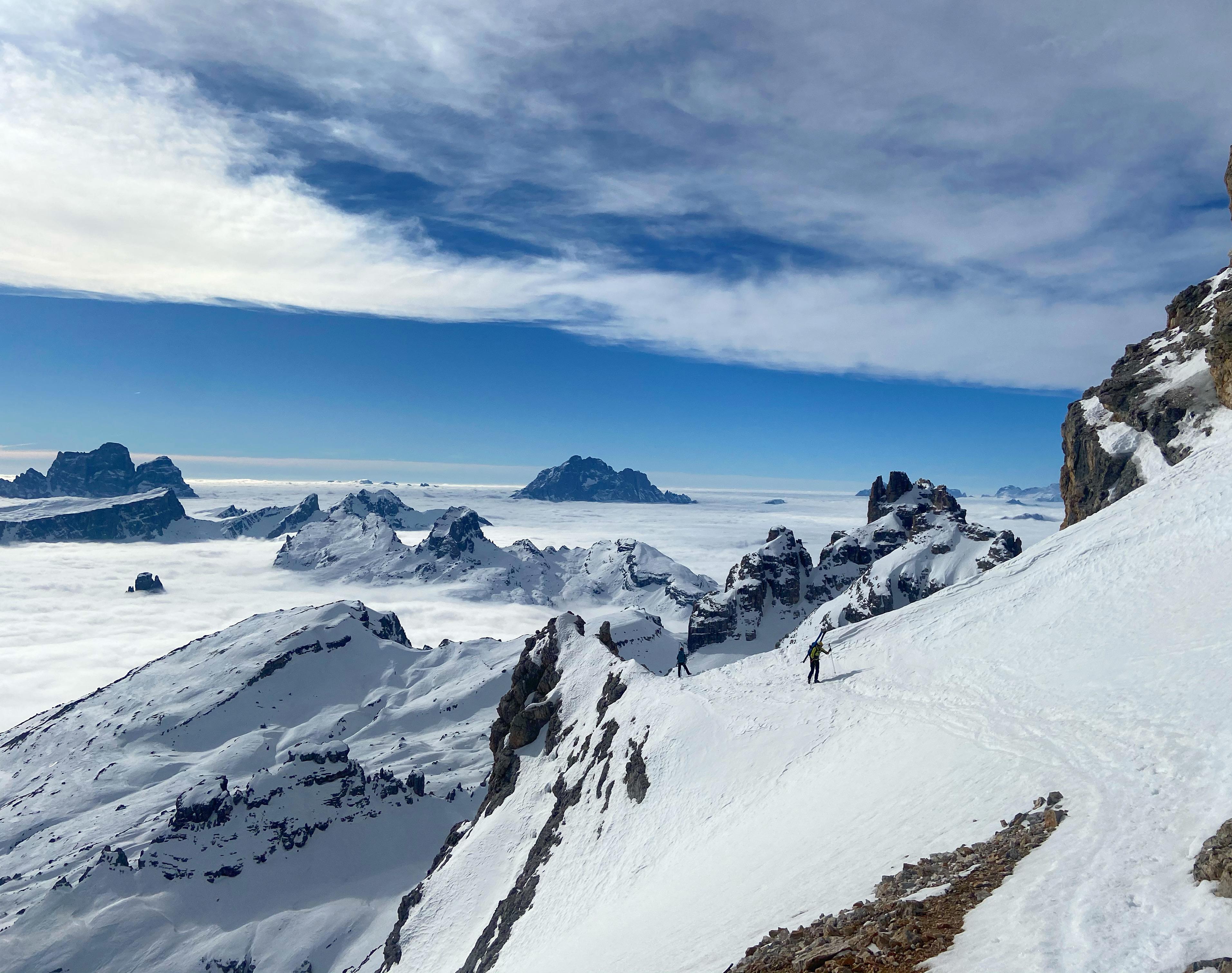 Ski dans le Massif des Tofane