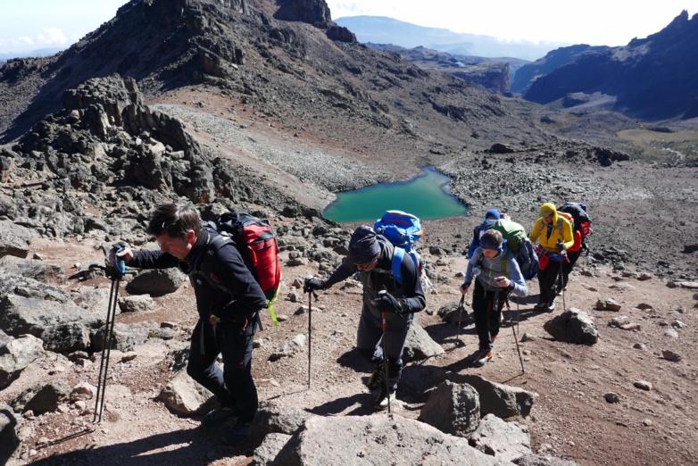 La traversée du Mont Kenya