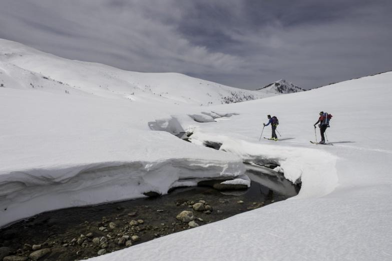 Le lac de Ninu en hiver