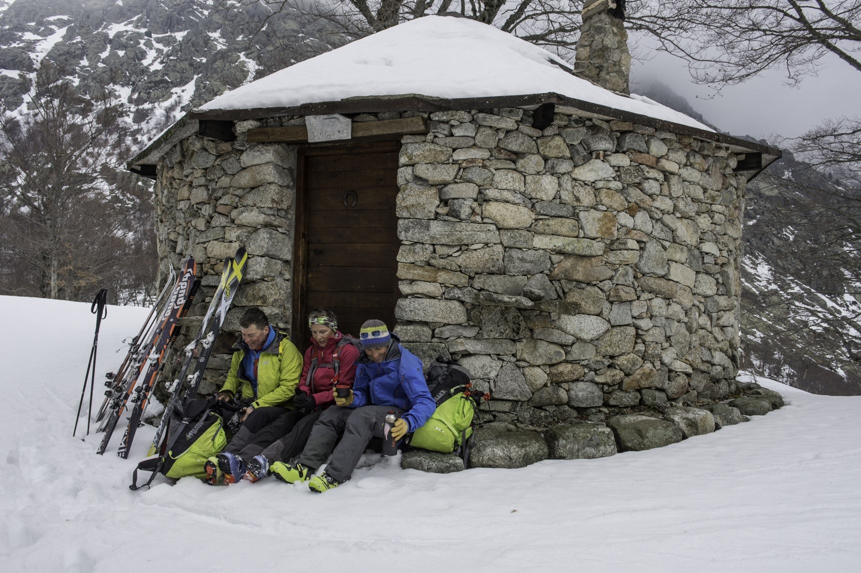 Initiation ski de rando en Corse